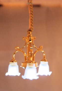 Dumbo 3-Arm Dollhouse Chandelier-Battery Operated
