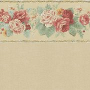 Wallpaper with Flower Border