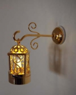 Two Piece Brass Coach Wall Lamp W3 Brass