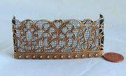 Queen Isabella Miniature Fireplace Screen in Antique Brass