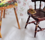 Original Miniature Painting and Easel Set