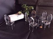 Modern Dollhouse Miniature Dining Room Set