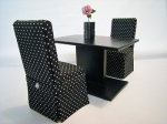 Black-on-Black Dining Set