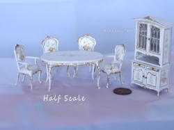 Bespaq Half Scale Wildflower Dining Room Set