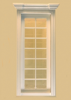 Miniature Dollhouse Classic French Double Door in White