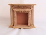 Unpainted Wood Dollhouse Fireplace