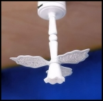 Non-Working White Ceiling Fan with Light C1W