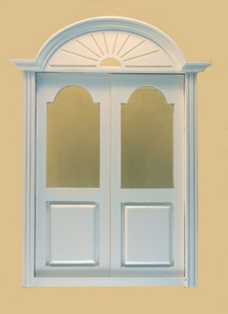 Newport Exterior Dollhouse Door in White
