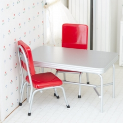 1950's Miniature Retro Table and Chair Set