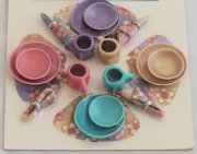 Multi-Color Miniature Dish Set-4 Place Settings