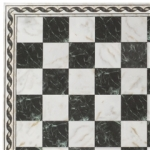 Black and White Faux Marble Sheet with Border