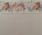 Sage Wallpaper with Flower Border