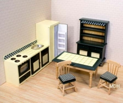 Melissa and Doug Victorian Dollhouse Kitchen Set