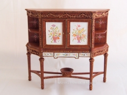 Hand-Painted Miniature Cabinet