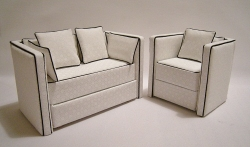 Modern & Contemporary Dollhouse Sofa and Chair