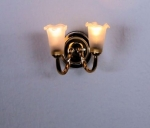 Sconce with Frosted Shades W7
