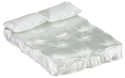 Miniature Double Mattress with Pillows