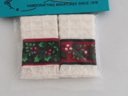 Miniature Christmas Kitchen Towels