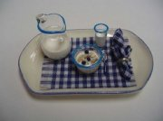 Miniature Breakfast Tray in Navy