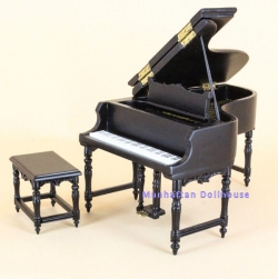 New! Baby Grand Bespaq Piano in Black with Stool