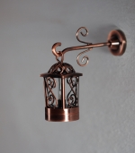 Gramacy two piece copper dollhouse coach lamp W3C