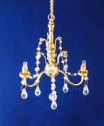 3-Arm Crystal Chandelier Battery Operated C16