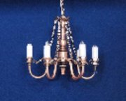 6-Arm Copper Dollhouse Chandelier C14