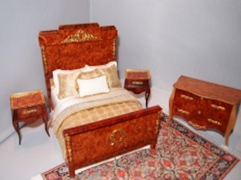 Tony Jones Miniature Wood Bedroom Set with Custom Bedding Tony Jones ...