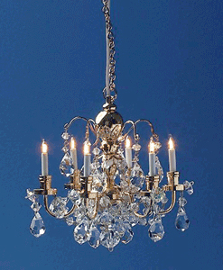 Renaissance 6 Up-Arm Crystal Chandelier