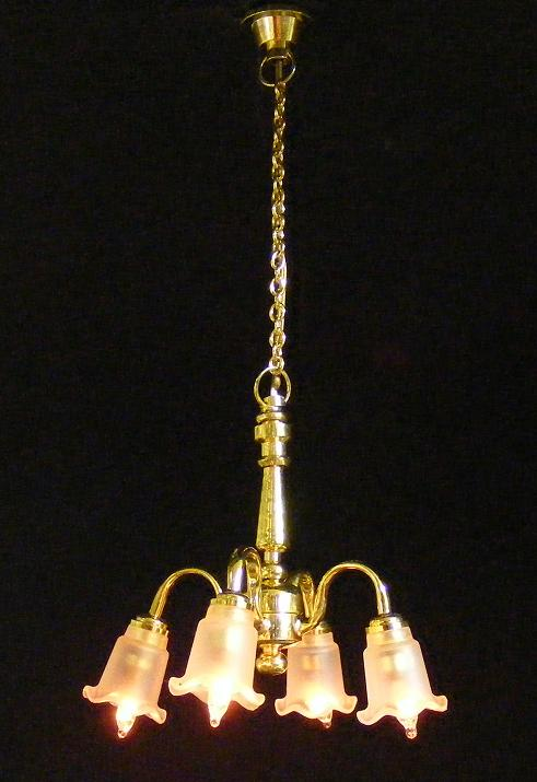 4 down arm frosted tulip chandelier ck3017 3996 manhattan click to enlarge aloadofball Choice Image
