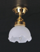 Fluted Shade Ceiling Lamp