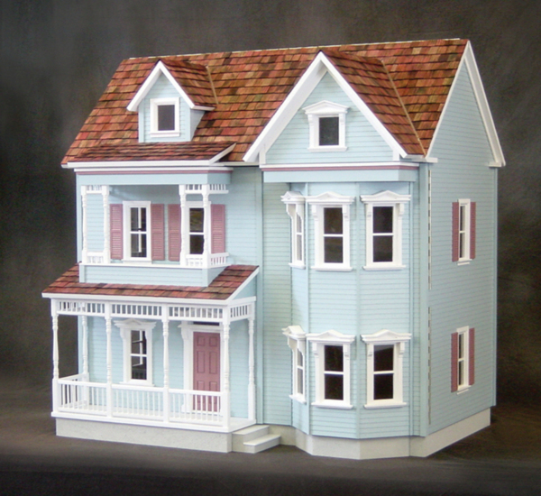Dollhouse kits victorian collection 12 wallpapers for Victorian style kit homes