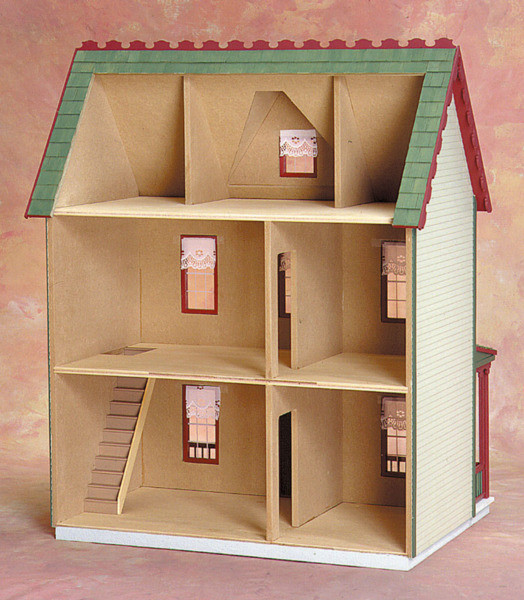 Vermont Farmhouse Jr Dollhouse Kit Click To Enlarge
