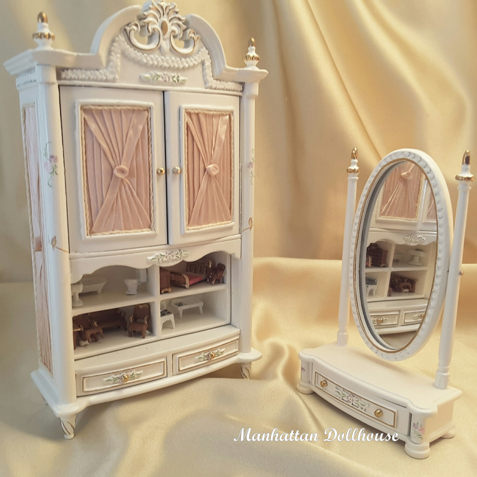 Miniature Dollhouse Madeline Girls Bedroom Set Click To Enlarge