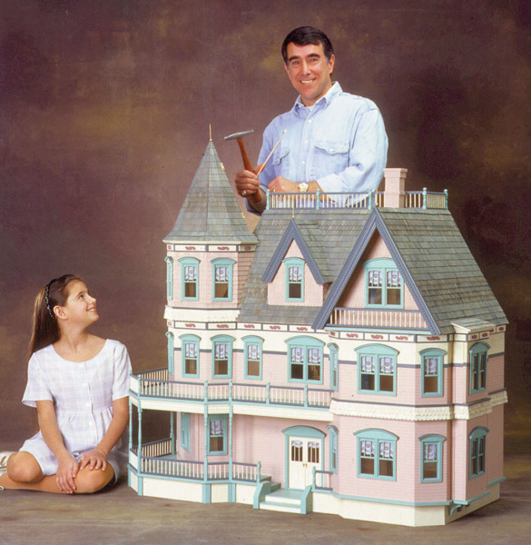 Queen Anne Victorian Dollhouse Kit - Click Image to Close