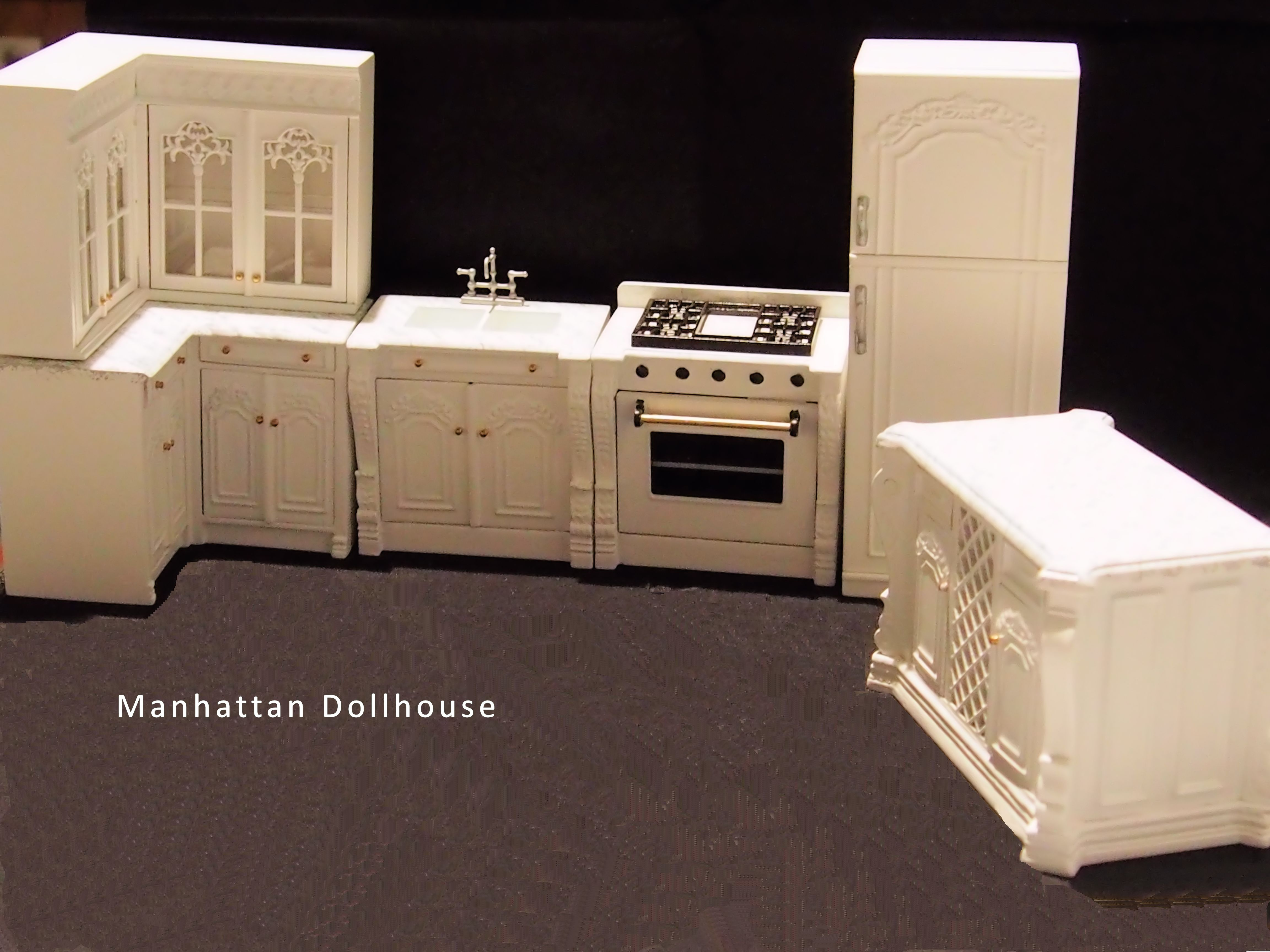 Kitchen Dollhouse Furniture Bespaq Julia White Kitchen 6 Piece Set 32000 Manhattan