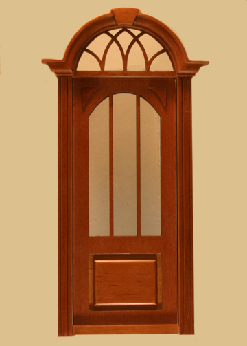 click to enlarge & Cambridge Exterior Door in Walnut made by Majestic Mansions [806NWN ...