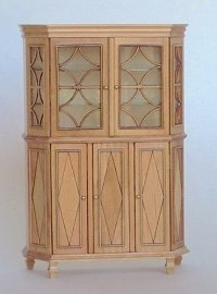 Chere Gustavian Glass Cabinet by Maritza for Bespaq KW