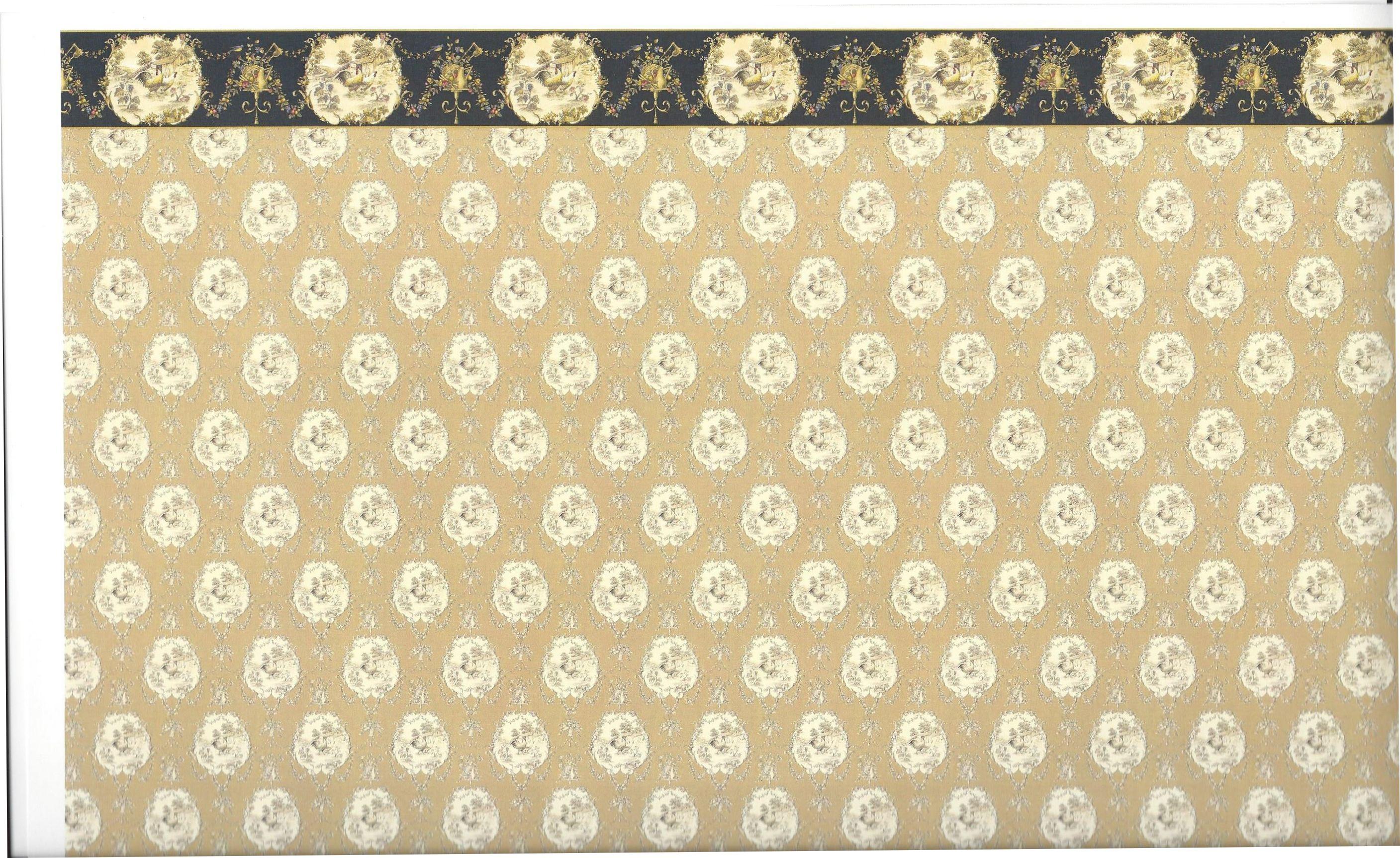 dollhouse wallpaper with border [586c] - $4.00 : manhattan