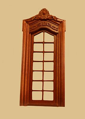 click to enlarge & Pollinade French Single Dollhouse Door in Walnut [837NWN ...