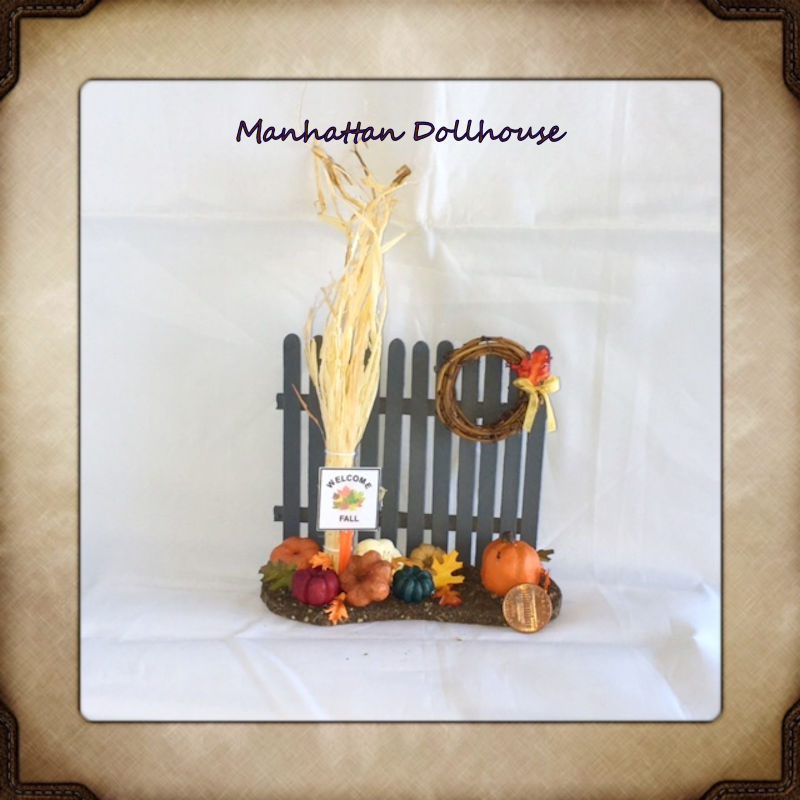 miniature halloween or fall setting click to enlarge