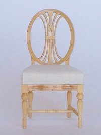 Dianna Gustavian Chair, Natural Finish, by Maritza for Bespaq