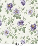 Rose Hill Floral Purple Dollhouse Wallpaper