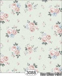 Small Floral and Peach Dollhouse Wallpaper