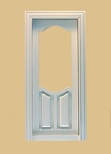 Stannford Exterior Dollhouse Door in White click to enlarge & Stannford Exterior Dollhouse Door in White [802WO.] - $22.80 ...