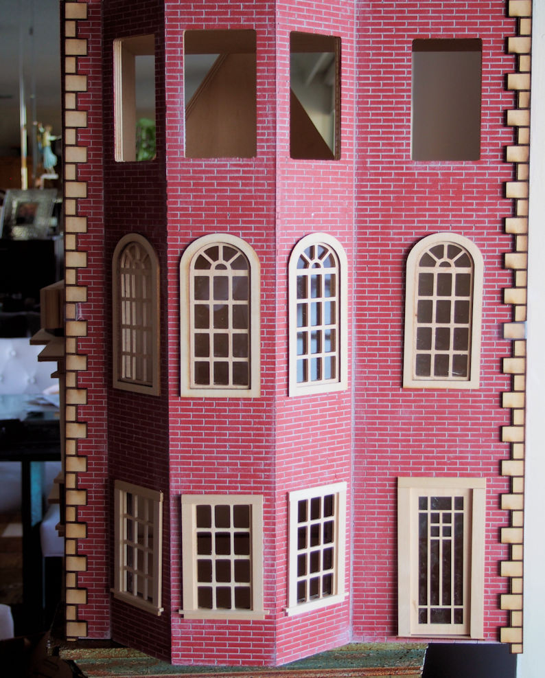 click to enlarge The Boston Brownstone Dollhouse