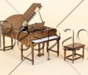 Piano and Bench Set by Bespaq