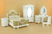 Chantilly Bedroom Set in White by Bespaq