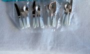 Miniature Flatware in Silver and White