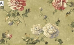 Sage Green and Flower Dollhouse Wallpaper